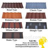 Tuiles de toit enduites en métal de sable matériel