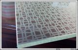 el vidrio de la impresión del Silk-Screen de 3-12m m con insignia/pulió los bordes