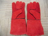 Ddsafety 2017 перчаток заварки коровы красного цвета Split