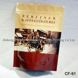 Tin-Tie Plastic Koffie Bag met een rechthoekige bodem