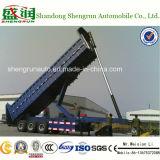 액압 실린더를 가진 반 중국 제조 쓰레기꾼 팁 주는 사람 트럭 트레일러