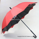 16k-Color Double Windproof Straight Umbrella