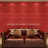 Акустическая пожаробезопасная водоустойчивая панель стены пурпура 3D для живущий комнаты