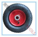 농기구를 위한 대칭 구획 패턴 압축 공기를 넣은 고무 바퀴 3.50-4