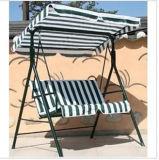 Oscillation pliable extérieure de jardin avec le parasol de tissu