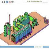 El tipo reactor del túnel, pone un neumático la planta especial de Pyrolsyis con la puerta muy abierta