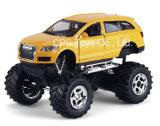 1: 32 morrer Cast Car, Metal Car, Toys, Big Wheel, Door Open, com Light e Sound