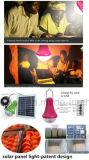 Alta Eficiencia Kit de la iluminación del panel solar de la linterna solar al aire libre con el cargador del teléfono móvil