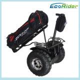 Carrello di golf elettrico di stile di Segwaying del motorino dell'equilibrio di auto della rotella di Ecorider due