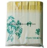 &amp casero; Insignia de bambú de los palillos y de la impresión del jardín