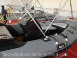 15.5ft Rib470c Recsue Boat con Hypalon Fiberglass Hull Rigid Inflatable Boat