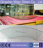 glace Tempered incurvée chaude de 6mm pour la balustrade de construction