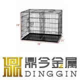 وحيدة باب معدن كلب صندوق شحن