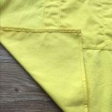 Tablier fait sur commande de cuisine de toile de canard du jaune 160z avec des courroies de dos de croix