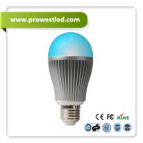 Dimmer와 Color Controlling를 가진 9W WiFi-Controlling LED Bulb