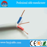 Câble de terre électrique plat engainé blanc de l'isolation 2core +E de Bs6004 Ren&Blue