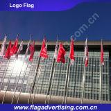 110gポリエステルファブリック印刷のカスタム旗、ロゴの旗、風のフラグ