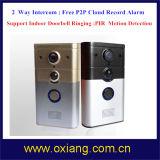 Doorbell video de PIR HD WiFi com anel interno da porta