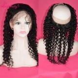 Frontals шнурка волос 360 девственницы ранга 8A волосы индийских глубокие курчавые