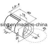 Fini de satin des accessoires AISI304 d'escalier d'acier inoxydable pour la glace 8mm