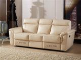 Sofa blanc de Recliner de cuir de modèle de l'Italie de couleur