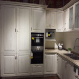 Oak vermelho Solid Wood com Cassic White Painting Kitchen Cabinet,