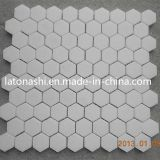 Preiswertes Marmorsteinmosaik-Muster, Herringbone Mosaik-Fußboden/Wand-Fliese