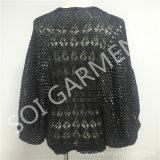 L'aile chauve-souris de crochet de mode de femmes gaine le chandail (SOI1699)