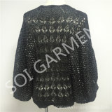 Batwing вязания крючком способа женщин Sleeves свитер (SOI1699)