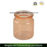 Candela di vetro del vaso riempita cera profumata con il coperchio di vetro