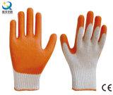 乳液のやしは、スムーズな終わり作業手袋塗った