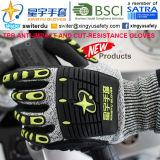 Отрежьте-Resistance и Анти--Impact TPR Gloves, 13G Hppe Shell Отрезало-Level 5, Sandy Nitrile Palm Coated, Анти--Impact TPR на Back Mechanic Gloves