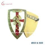 Emblema feito sob encomenda do Pin do metal do terno do projeto do protetor