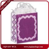 Bolsas de papel grabadas modificadas para requisitos particulares compradores del regalo de la resplandor que hacen compras con las manetas