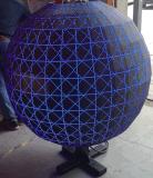 P6는 비전 효력 실내 풀 컬러 구체 발광 다이오드 표시를 완전히 한다