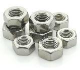 Noix Hex de haute résistance d'acier inoxydable, écrou de blocage en nylon