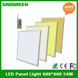최신 판매 세륨 RoHS 편평한 LED 위원회 빛 600*600 54W 90lm/W