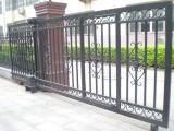 Puerta de desplazamiento de acero revestida del polvo negro para la calzada