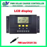 12V/24V 30A PWM Solar Charge Controller com LCD Display