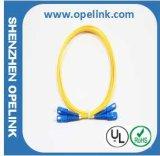 Sc-Sc de Patchcord de fibre optique (mode unitaire)