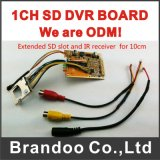Hot Sale 1 canaux SD DVR Main Board, prise en charge de la carte SD 64 Go, OEM Business disponible