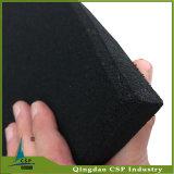 1mx1mx15mm schwarze Gummifußboden-Fliese für Gymnastik