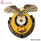Pin su ordinazione del risvolto dello smalto dell'oro di marchio per i regali di promozione (LM1046)