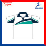 Healong Best Digital sublimación 100% poliéster camiseta Polo
