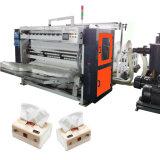 Machine se pliante gravante en relief de fabrication de papier de serviette de tissu tiré