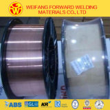 fil de soudure enduit de MIG d'en cuivre du CO2 Sg2/Er70s-6 de 0.9mm de la qualité d'or ISO9001 de passerelle