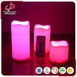 Indicatore luminoso senza fiamma della candela del LED con telecomando