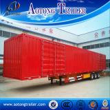 3개의 차축 밴 유형 반 상자 화물 수송기 트레일러