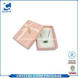 Contenitore di carta di monili di lusso su ordinazione quadrati variopinti di marchio