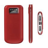 Banco elegante novo da potência 10000mAh com o carregador magro do telefone móvel do negócio do indicador de diodo emissor de luz